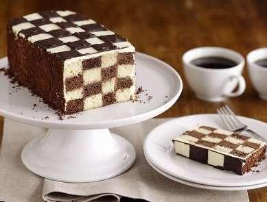 طرز درست ماکت کیک تولد کیک تولد شطرنجی درست کنید