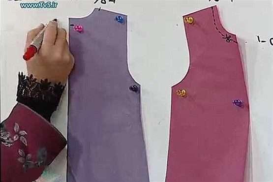 دوخت لباس حریر بچگانه آموزش دوخت لباس بچگانه