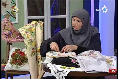 روبان دوزی   تزیین لباس