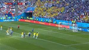 گل اول ژاپن به کلمبیا (کاگاوا) پنالتی