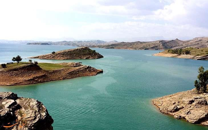 دریاچه شهیون، آبگیری پشت سد دز
