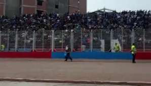 جو هولناک ورزشگاه شهید وطنی پیش از دیدار نساجی و استقلال