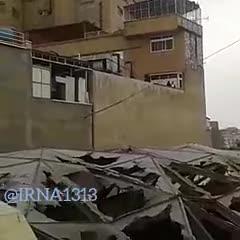 فیلم ارسالی یک شهروندخبرنگار از پشت بام و داخل پاساژ پلاسکو