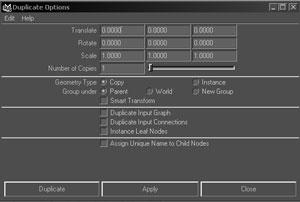 گزینهDuplicate input graph :