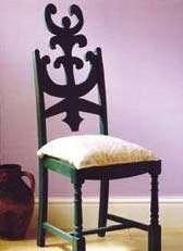 تكیه گاه تزیینی برای صندلی های قدیمی