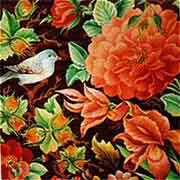 مرغان بهشتی در نقاشی گل و مرغ