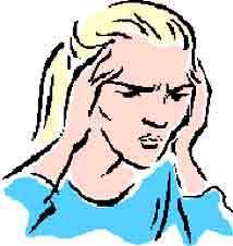 تیک، درد سر اضطراب