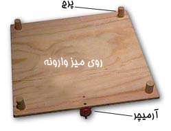 میز لرزه بسازید
