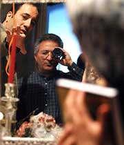 تصاویری از مراحل ساخت فیلمی از میرکریمی