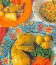 خوراک مرغ و آویشن(برای کودک)