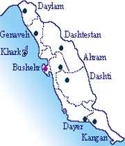 picture of the Bushehr s Political Map