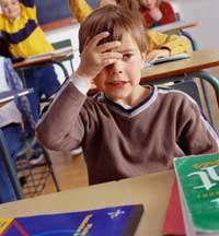 گریه ی بچه در کلاس