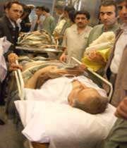 بهمنی بعد از مجروح شدن در بیمارستان دی بستری شد