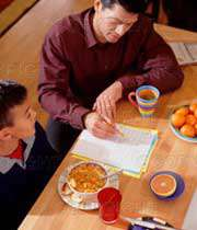 مطالعه کردن با تغذیه مناسب