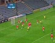 صحنه ی گل اول استرالیا و  شادی بازیکنان این تیم