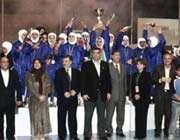 تیم دختران ایران بالای سکوی قهرمانی رقابتهای بی المللی اردن