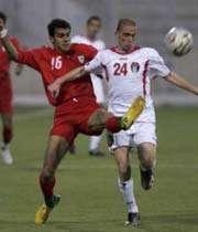 صحنه ای از دیدار بازی ایران - اردن