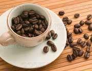 یک فنجان دانه قهوه