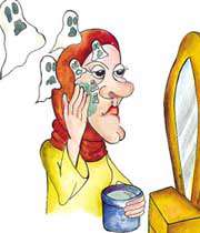 مشکلات ناشی از مواد آرایشی