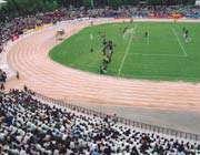 نمای کنونی ورزشگاه شهید دستگردی در زمان برگزاری بازیهای لیگ برتر