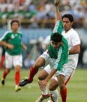 صحنه ای از دیدار ایران - مکزیک