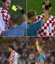 تصاویر دیدار کرواسی - استرالیا در جام جهانی 2006  که پل بزرگترین اشتباه  داوری را  به نمایش گذاشت