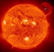 زبانه ی خورشیدی