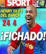 عکس مونتاژ شده آنری امروز روی جلد نشریات اسپانیا بود