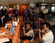 کنفرانس مطبوعاتی مربیان و کاپیتان های دو تیم