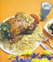 مرغ مغزدار شکم پر