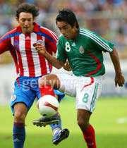 صحنه ای از دیدار مکزیک - پاراگوئه