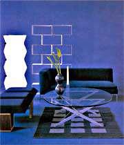 نمایی از ترکیب رنگ  آبی
