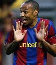 تیری آنری ستاره فرانسوی بارسلونا