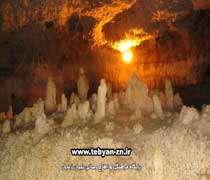 عجیب ترین غار خشکی ، آبی ایران(2)