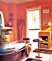 نمایی از ترکیب رنگ نارنجی