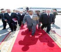 Mahmoud Ahmadinejad est arrivé à Minsk pour des entretiens.