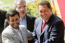 Hugo Chavez est arrivé  en Iran.