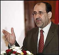 Nouri Al-Maliki insiste sur la nécessité de confier aux Irakiens eux-mêmes la responsablité d'assurer la sécurité de leur pays.
