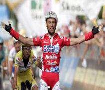 Cyclisme: Garzelli s'impose dans la 14e étape du Giro.