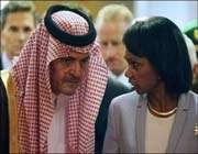 saud al-faysal et condolizza rice