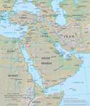 carte du moyen-orient