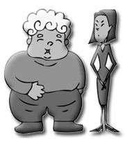 چاقی و لاغری، بحث روز