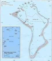base militaire stratégique américaine de diego garcia dans l'archipel de chagos (océan indien)