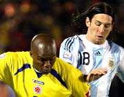 پیروزی آرژانتین در وقت اضافه
