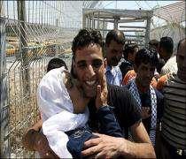 Filistin'in Ramallah kentinde sevinç gösterileri