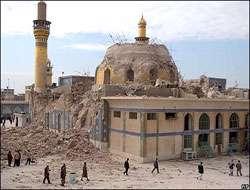 Askeriye türbesine bombalı saldırı düzenlendi