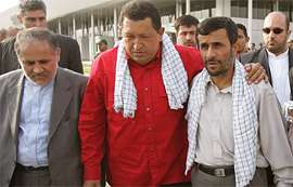 Chavez: Ben İran'a gelince şeytan rahatsız oluyor