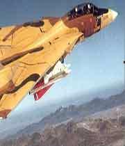 موشک سجیل در زیر بال جنگنده f14 ایرانی