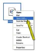 باز كردن یك فایل بوسیله یك برنامه خاص