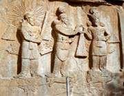 haut-relief de shapur ii et shapur iii